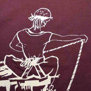 t-shirt femme logo escalade