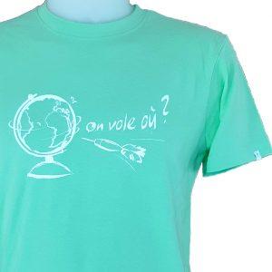t-shirt homme logo voyage parapente