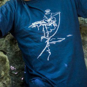 t-shirt homme logo escalade calanques
