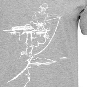 t-shirt homme logo escalade