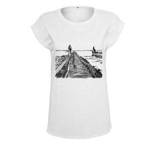 t-shirt femme logo surf parapente