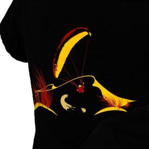 t-shirt femme personnalisé logo parapente