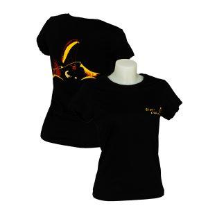 T-shirt femme noir logo parapente