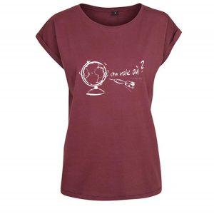 t-shirt femme logo parapente voyage
